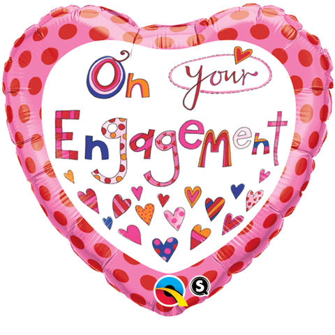 "18"" Corazon, On Your Engagement, Corazoncitos"