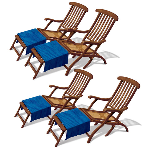 "Cruise Ship Deck Chair Props, Size 3' 4"" & 3' 9"""