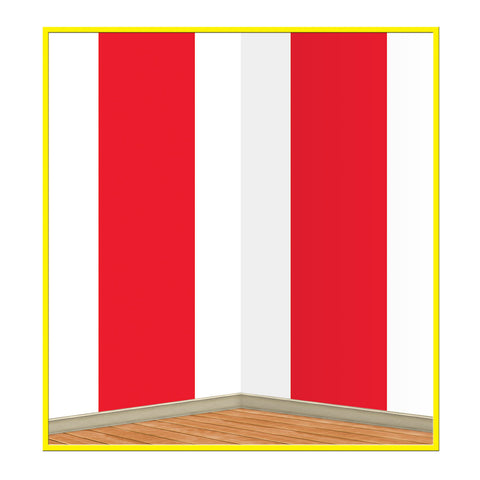 Red & White Stripes Backdrop, Size 4' x 30'