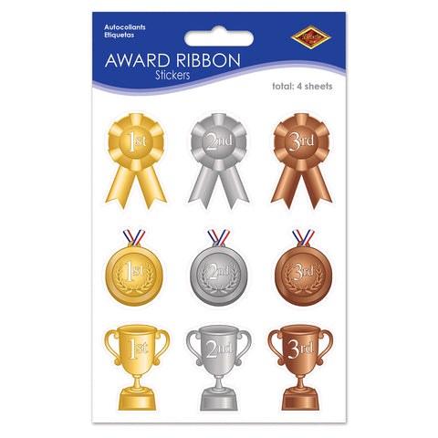 "Award Ribbon Calcomanias, Size 4¾"" x 7½"""