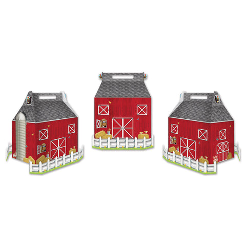 "Barn Favor Boxes, Size 3"" x 5¼"""