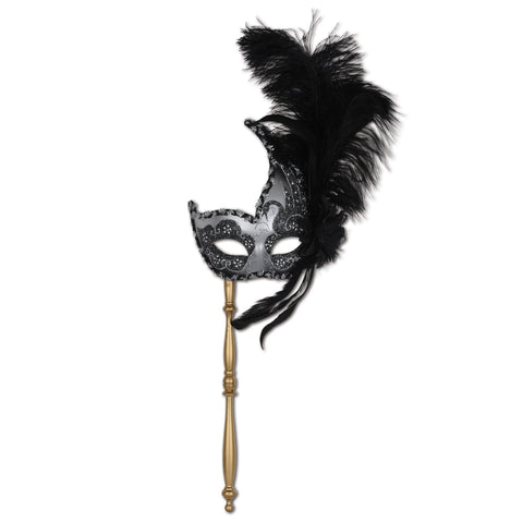 Feathered Mask w/Stick