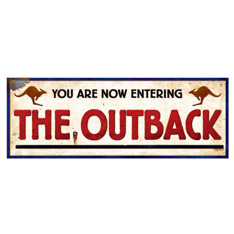 "Outback Sign, Size 8"" x 22"""