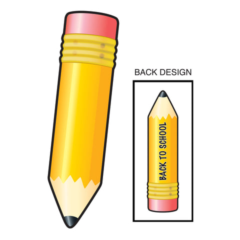 Back-To-School Pencil Cutout, Size 24""
