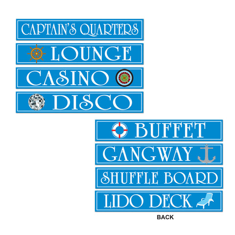 "Cruise Ship Sign Recortes, Size 4"" x 24"""
