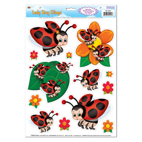 "Lady Bug Adherivos, Size 12"" x 17"" Sh"