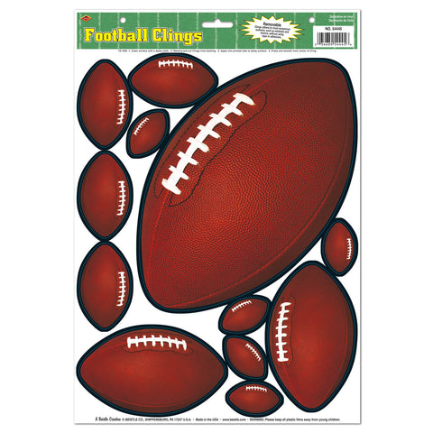 "Football Adherivos, Size 12"" x 17"" Sh"