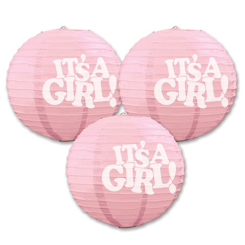 It's A Girl! Paper Lanterns, Size 9½""