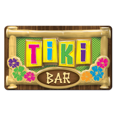 "3-D Plastic Tiki Bar Sign, Size 12½"" x 19"""