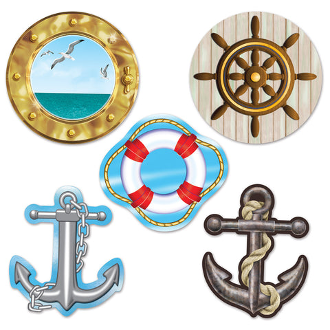 Mini Nautical Recortes, Size 4""