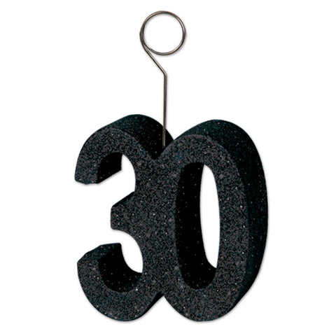 Glittered  30  Photo/Balloon Holder, Size 6 Oz