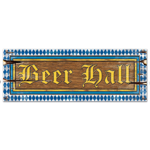 "Beer Hall Sign, Size 8"" x 22"""