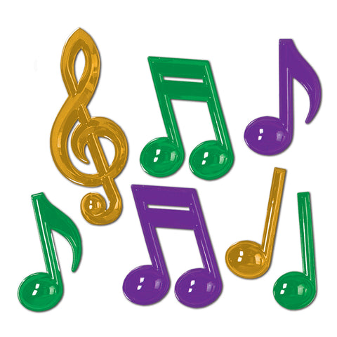 Plastic Musical Notes, Size 13""