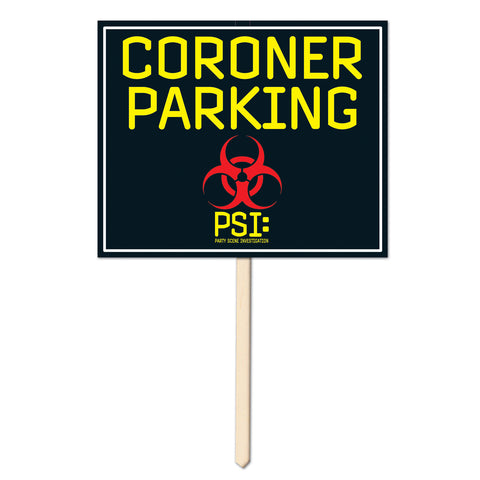 "Coroner Parking Yard Sign, Size 12"" x 15"""