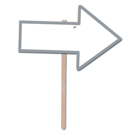 "Blank  Arrow Yard Sign, Size 9¾"" x 15¼"""