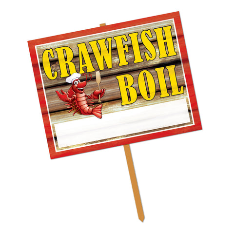 "Crawfish Boil Yard Sign, Size 11"" x 14"""