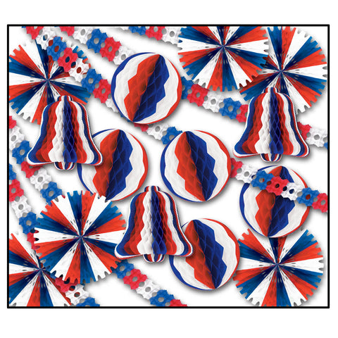 Patriotic Display Decorator - 26 Pcs