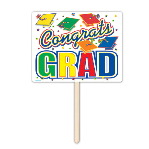 "Congrats Grad Yard Sign, Size 12"" x 15"""