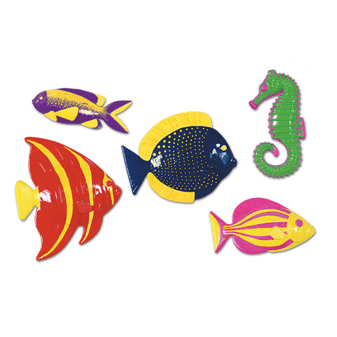"Plastic Tropical Fish, Size 11½""-13¾"""