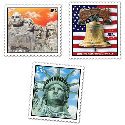 Patriotic Stamp Recortes, Size 18""