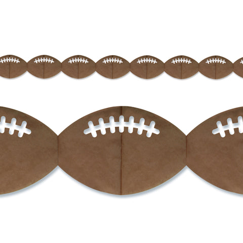 "Football Garland, Size 4"" x 12'"