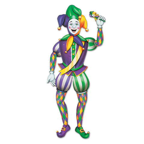 Jointed Mardi Gras Jester, Size 3' 2""