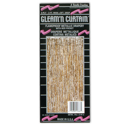1-Ply FR Gleam 'N Curtain, Size 8' x 3'