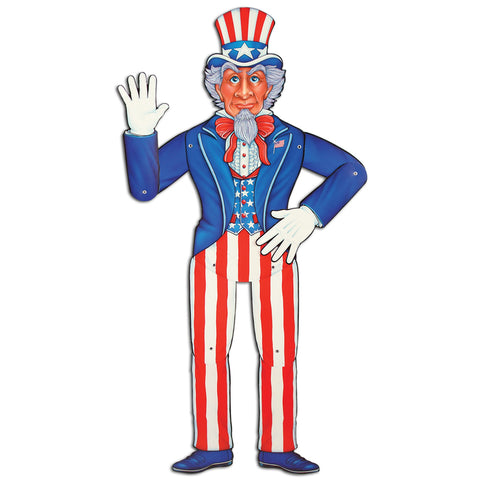 Jointed Uncle Sam, Size 3'