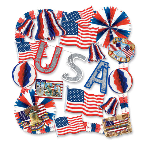 FR Patriotic Decorating Kit - 22 Pcs