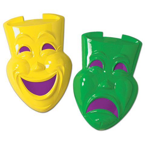 Plastic Comedy & Tragedy Faces, Size 21""