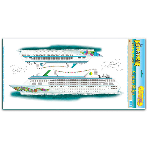 "Cruise Ships Peel 'N Place, Size 12"" x 24"" Sh"