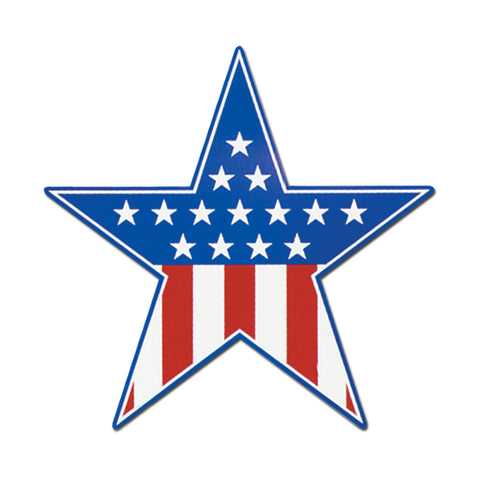Patriotic Star Cutout, Size 15""