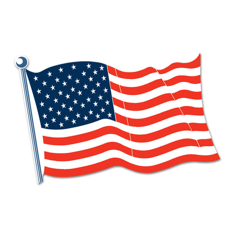 American Flag Cutout, Size 18""