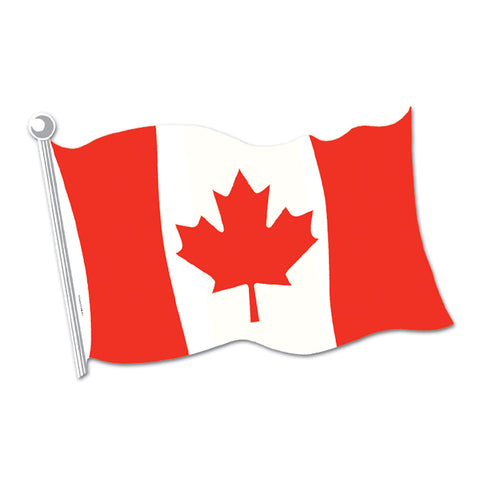 Canadian Flag Cutout, Size 18""