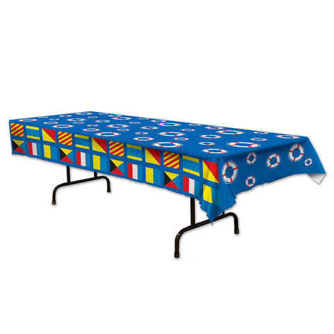 "Nautical Tablecover, Size 54"" x 108"""