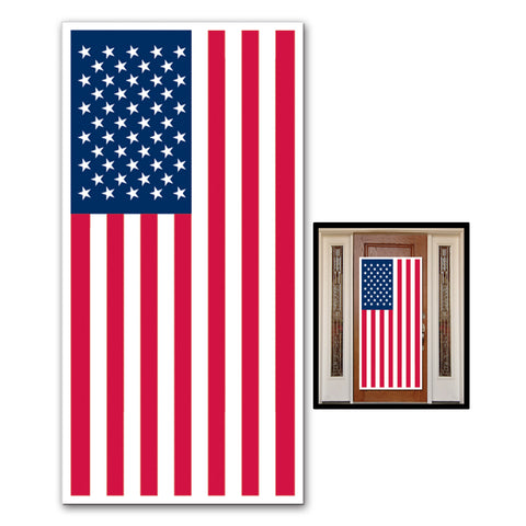 "American Flag Door Cover, Size 30"" x 5'"