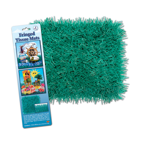 "Pkgd Fringed Tissue Mats, Size 15"" x 30"""