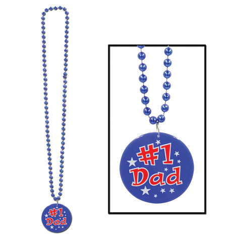 Collares w/Printed #1 Dad Medallion, Size 33""