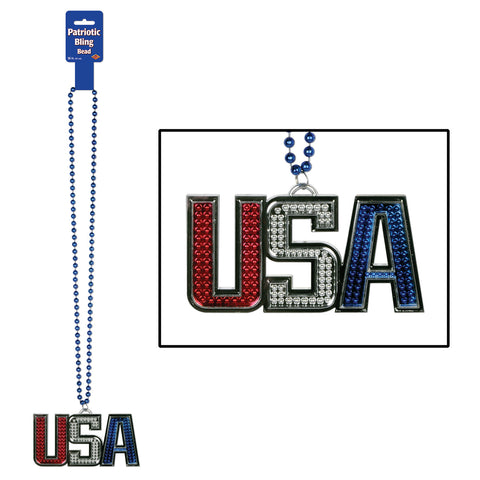 Collares w/USA Medallion, Size 36""