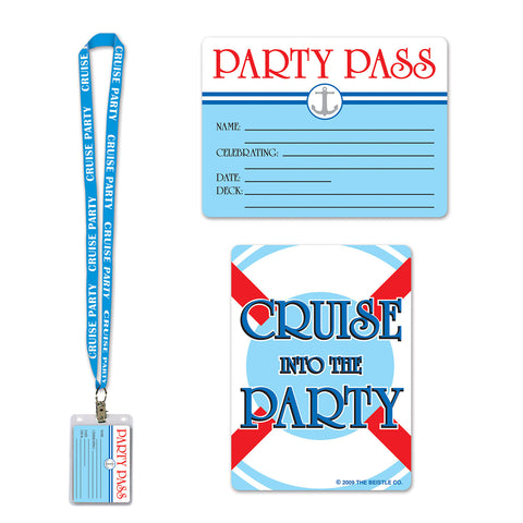 Cruise Ship Party Pass, Size 25""