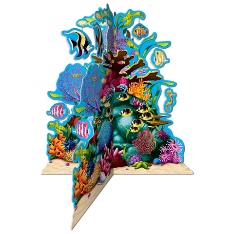 3-D Coral Reef Centerpiece, Size 10""