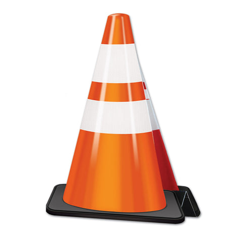 3-D Construction Cone Centerpiece, Size 11""