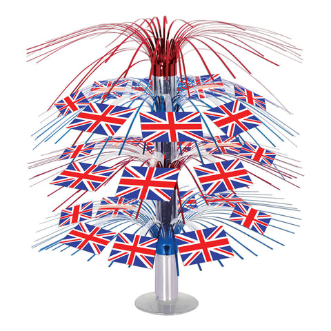 British Flag Cascade Centerpiece, Size 18""