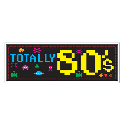 80's Sign Banner, Size 5' x 21""