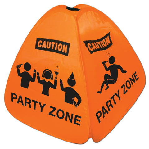 Party Zone Collapsible Floor Sign, Size 15""