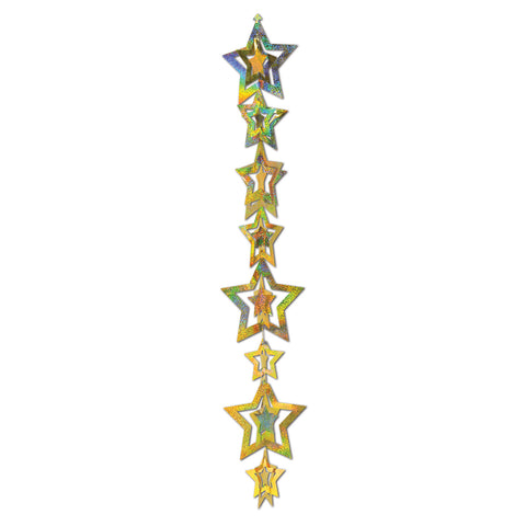 3-D Prismatic Star Gleam 'N Garland, Size 20""