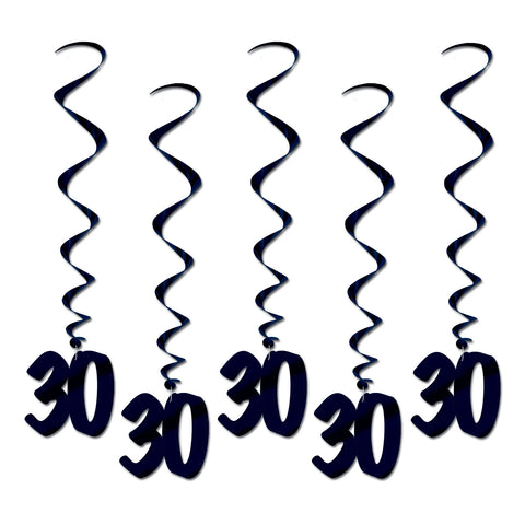 30  Whirls, Size 3'