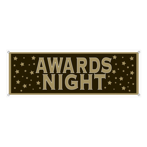 Awards Night Sign Banner, Size 5' x 21""