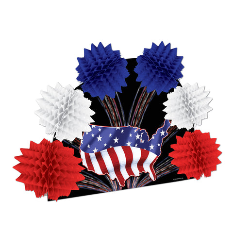 Patriotic Pop-Over Centerpiece, Size 10""