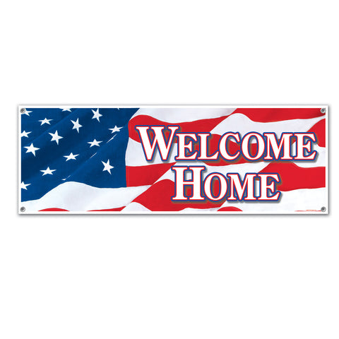 Welcome Home Sign Banner, Size 5' x 21""